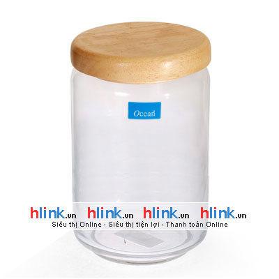 lo popja b02526 750ml 01 400x400 - Lọ Thủy Tinh Pop Jar Nắp Gỗ - B02526 - 750ml