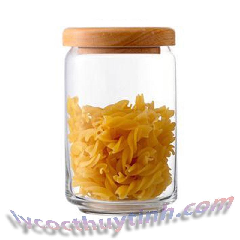 lo thuy tinh B02526 pop jar nap go 01 800x800 - Bộ 6 Lọ Thủy Tinh Pop Jar Nắp Gỗ - B02526 - 750ml