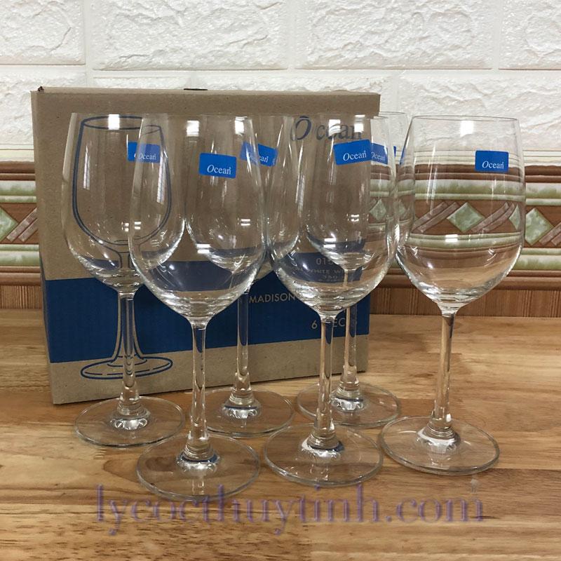 ly thuy tinh uong ruou vang trang 015W12 07 - Bộ 6 Ly Thủy Tinh Madison White Wine - 1015W12 - 350ml