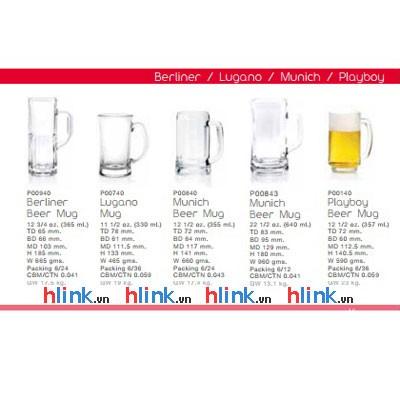 prolist53 Cac loai coc thuy tinh uong bia Ocean - Bộ 6 Cốc Bia Thủy Tinh Munich Beer Mug - P00840 - 355ml