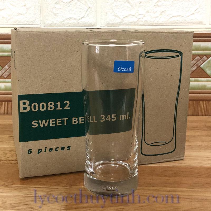 coc thuy tinh sweet bell B00812 04 - Bộ 6 Cốc Thủy Tinh Sweet Bell - B00812 - 345ml