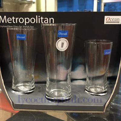 coc thuy tinh metropolian B21307 B21312 B21314 1 - Cốc Bia Thủy Tinh Metropolitan Cỡ Trung - B21312 - 330ml
