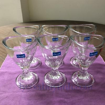 ly kem thuy tinh P02617 06 - Bộ 6 Ly Kem Nhỡ Delight Sundae Cup - P02617 - 150ml