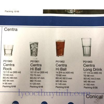 coc thuy tinh centro long drink P01963 495ml 02 400x400 - Cốc Thủy Tinh Centra Long Drink - P01963 - 495ml