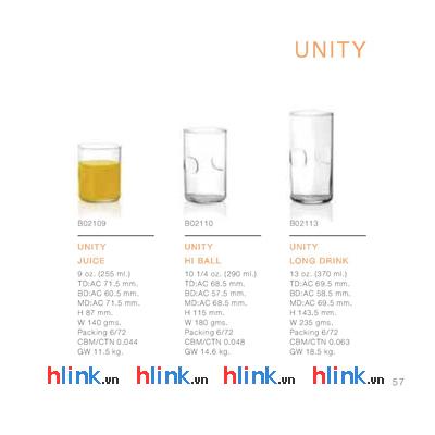 prolist30 Coc thuy tinh Ocean Unity B02110 290ml 06 - Bộ 6 Cốc Thủy Tinh Bấm Lỡ Unity Hộp Đẹp - B02110 - 290ml