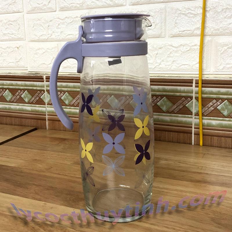 Bình nước thủy tinh quai nhựa Divano – 5V20558-H-1.6l-05