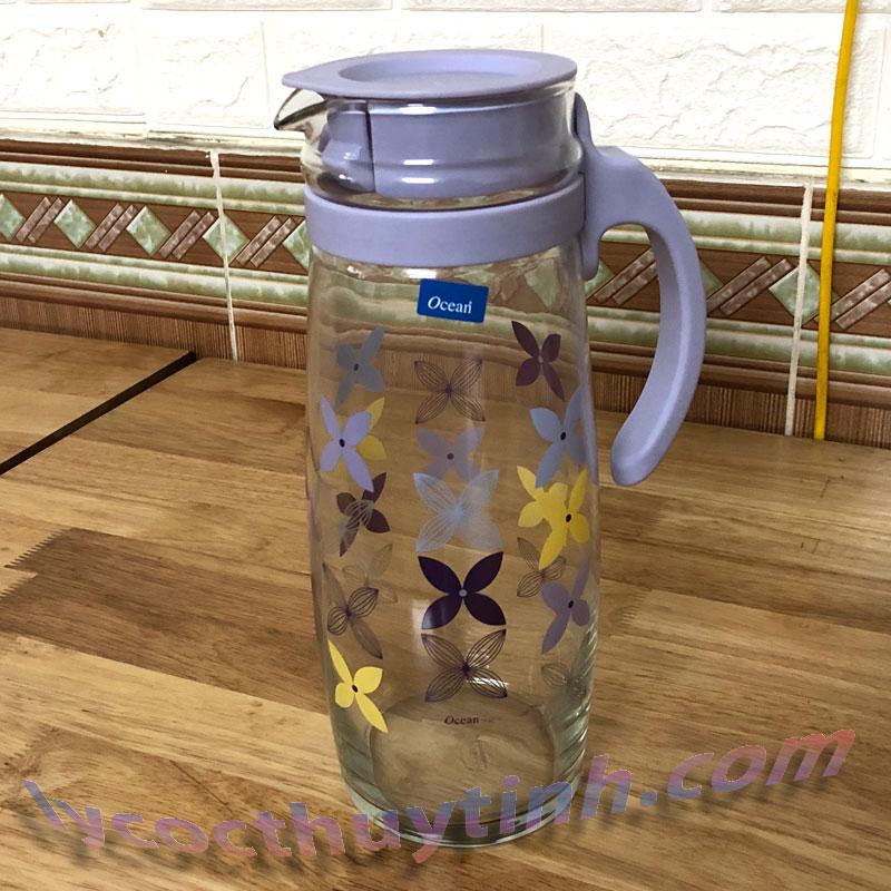 Bình nước thủy tinh quai nhựa Divano – 5V20558-H-1.6l-06