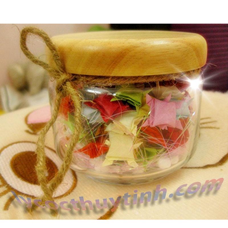 lo thuy tinh B02511 pop jar nap go 05 800x800 - Bộ 6 Lọ Thủy Tinh Pop Jar Nắp Gỗ - B02511 - 325ml