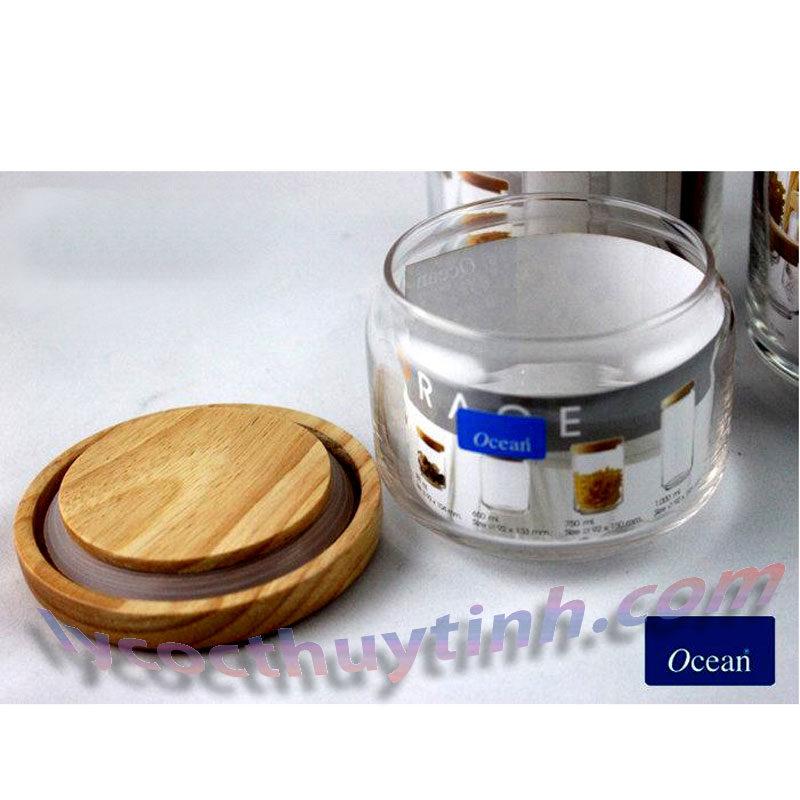 lo thuy tinh B02511 pop jar nap go 08 800x800 - Bộ 6 Lọ Thủy Tinh Pop Jar Nắp Gỗ - B02511 - 325ml