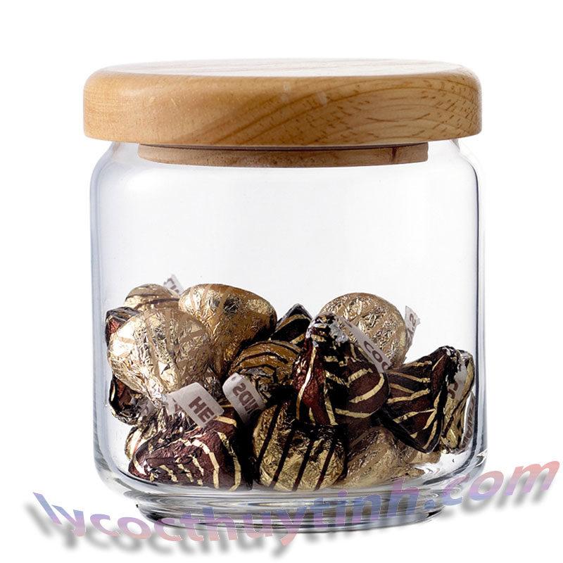 lo thuy tinh B02517 pop jar nap go 05 800x800 - Bộ 6 Lọ Thủy Tinh Pop Jar Nắp Gỗ - B02517 - 500ml