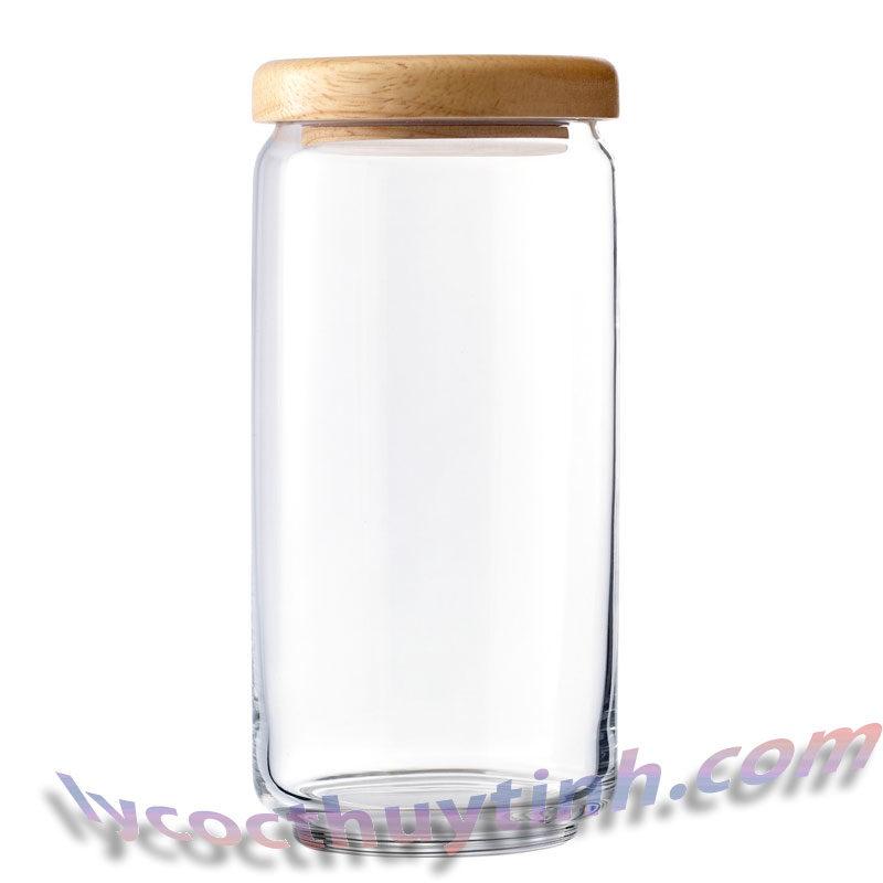 lo thuy tinh B02536 pop jar nap go 01 800x800 - Bộ 6 Lọ Thủy Tinh Pop Jar Nắp Gỗ - B02536 - 1000ml