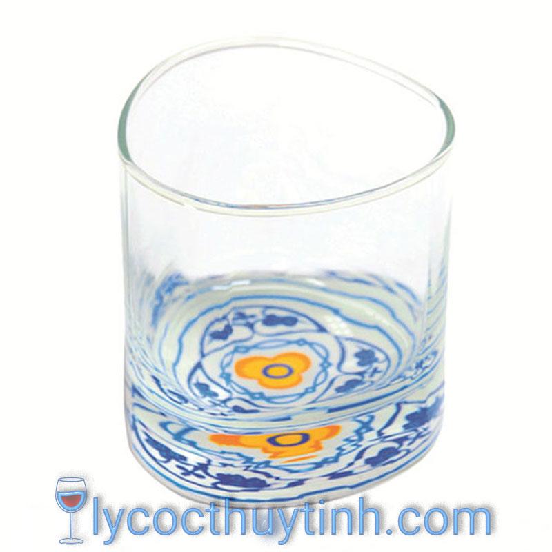 Coc thuy tinh B19811 thap in hoa chim 01 1 - Bộ 6 Cốc Thủy Tinh Trinity Rock - B19811 - 305ml - in Hoa Chìm