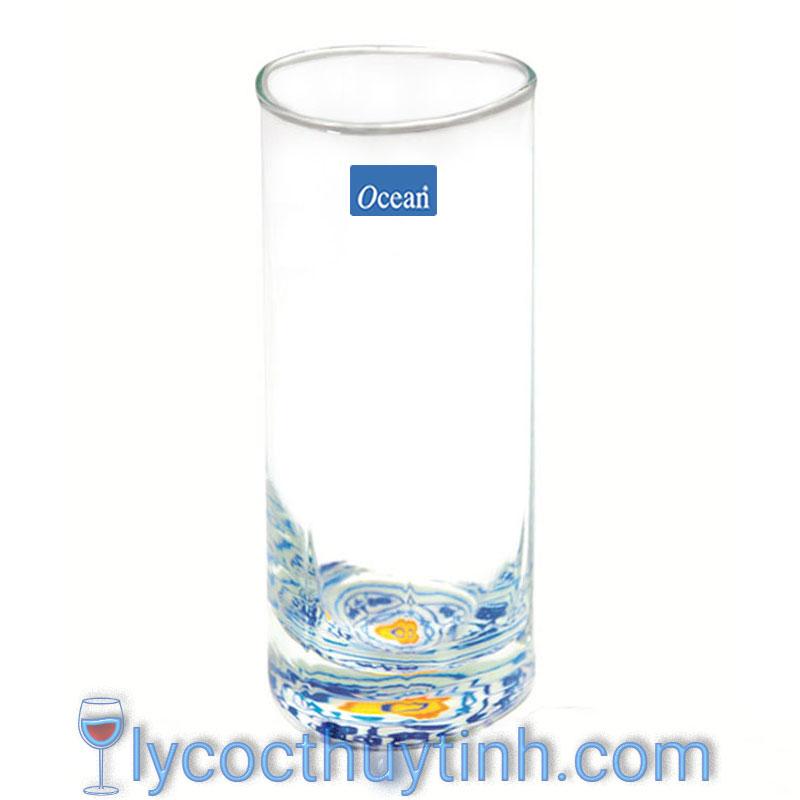 Coc thuy tinh B19813 cao in hoa chim 01 1 - Bộ 6 Cốc Thủy Tinh Trinity Long Drink - B19813 - 380ml - In Hoa Chìm