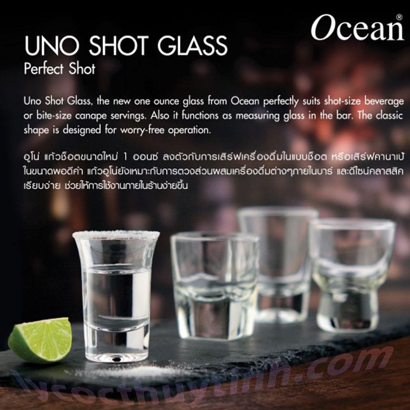 coc ruou thuy tinh P02910 Uno shot 03 - Bộ 12 Cốc Rượu Thủy Tinh Uno Shot  – P02910 – 35ml