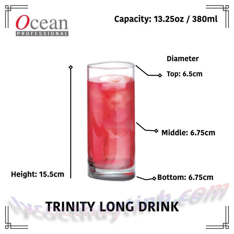 coc thuy tinh B19813 06 800x800 - Bộ 6 Cốc Thủy Tinh Trinity Long Drink - B19813 - 380ml