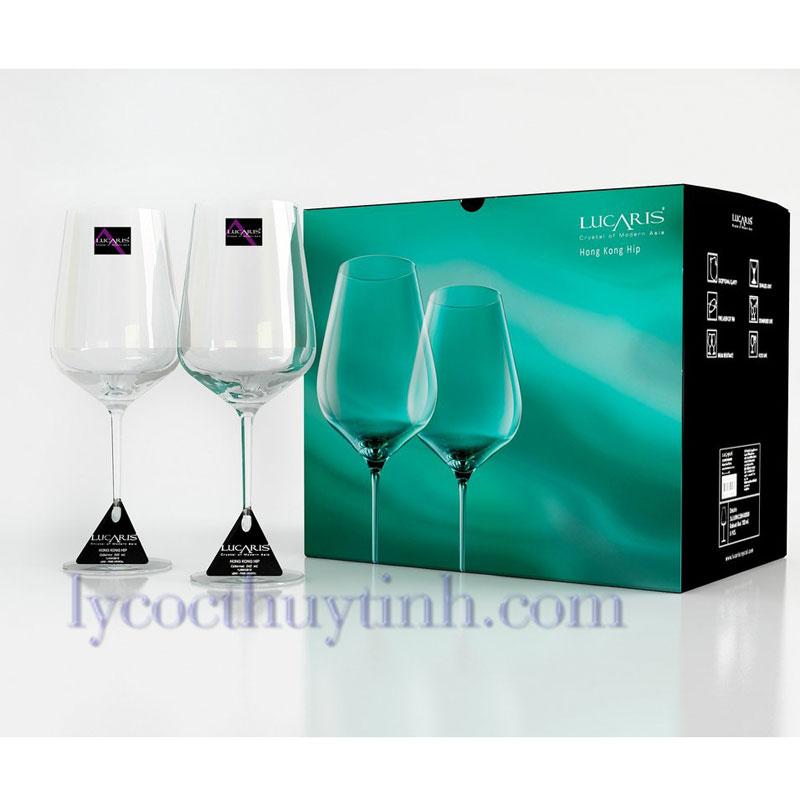 ly pha le Hongkong Hip Bordeaux pack6 1ls04BD27E 02 - Bộ 6 Ly Pha Lê HongKong Bordeaux - 1LS04BD27E - 770ml